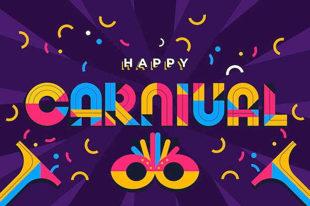 Colorful flat design carnival lettering