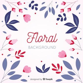 Colorful flat design floral background