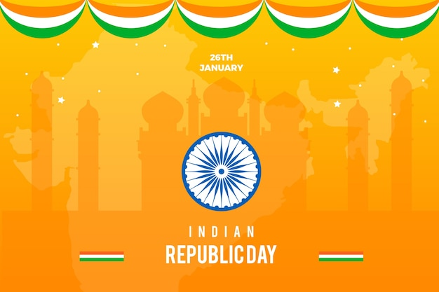 Colorful flat design for india republic day