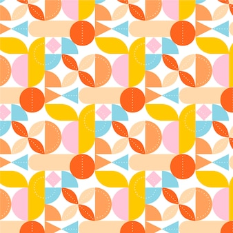 Colorful flat mosaic pattern