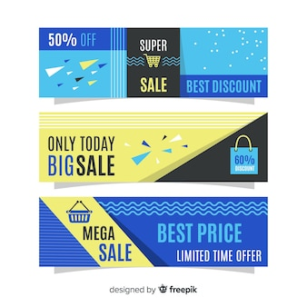 Colorful flat sales banner