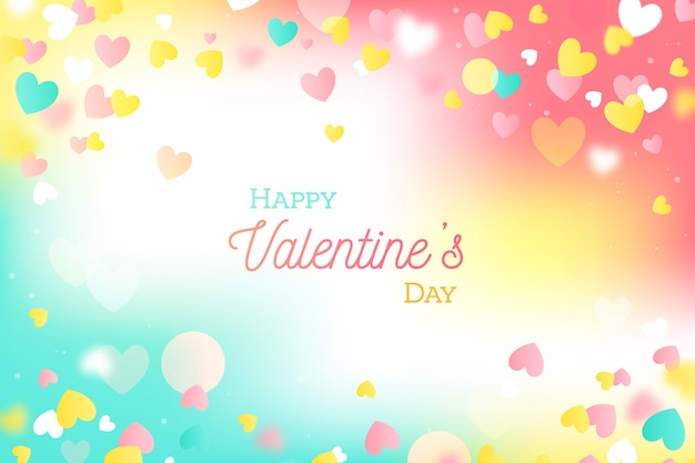 Colorful flat valentine's day background