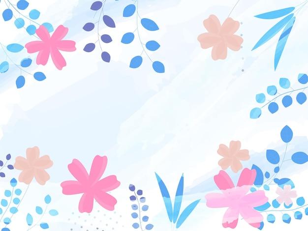 ブラシストローク効果を持つカラフルな花の抽象的な背景。 Premiumベクター