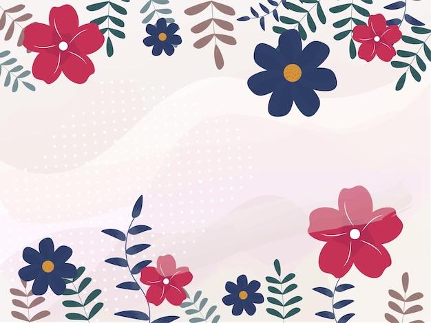 カラフルな花の抽象的な背景