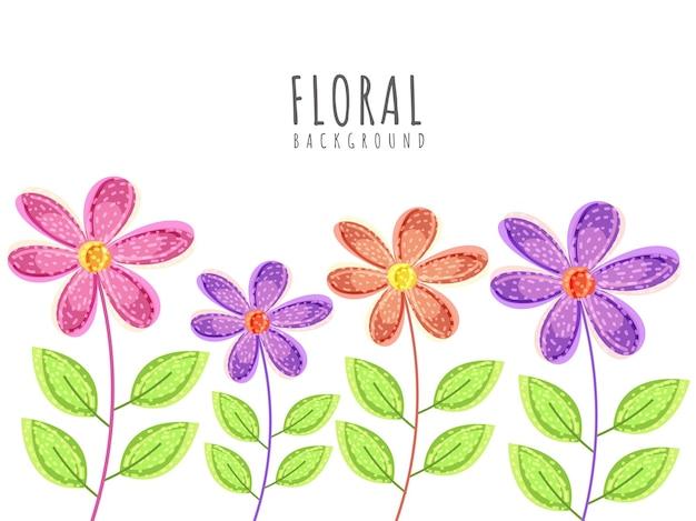 화려한 꽃 배경은 포스터, 인사말 카드로 사용할 수 있습니다.