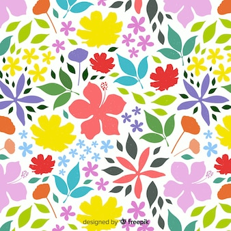 Colorful floral background flat style