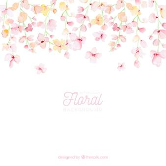 Sfondo floreale colorato in stile acquerello