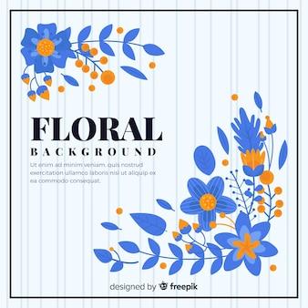 Красочный цветочный фон с плоским дизайном
