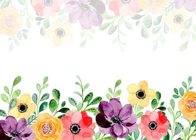 Красочный цветочный фон с акварелью