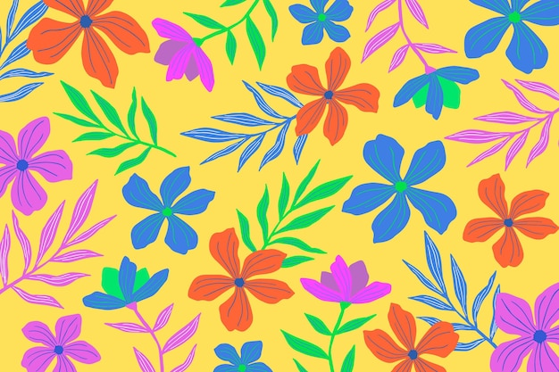 Colorful floral background for zoom