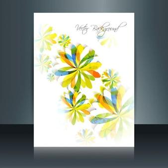 Colorful floral brochure