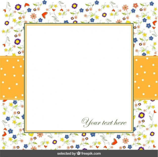화려한 꽃 카드