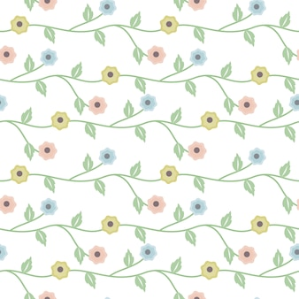 Colorful floral decorate background seamless pattern