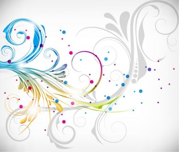 Красочные цветочные векторные иллюстрации дизайн