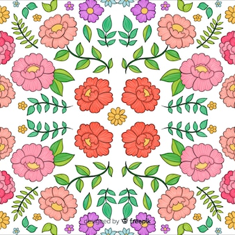 Colorful floral embroidery background