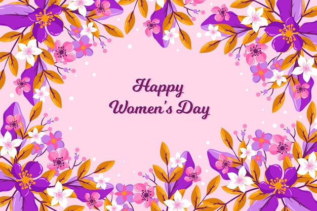 Colorful floral happy women's day