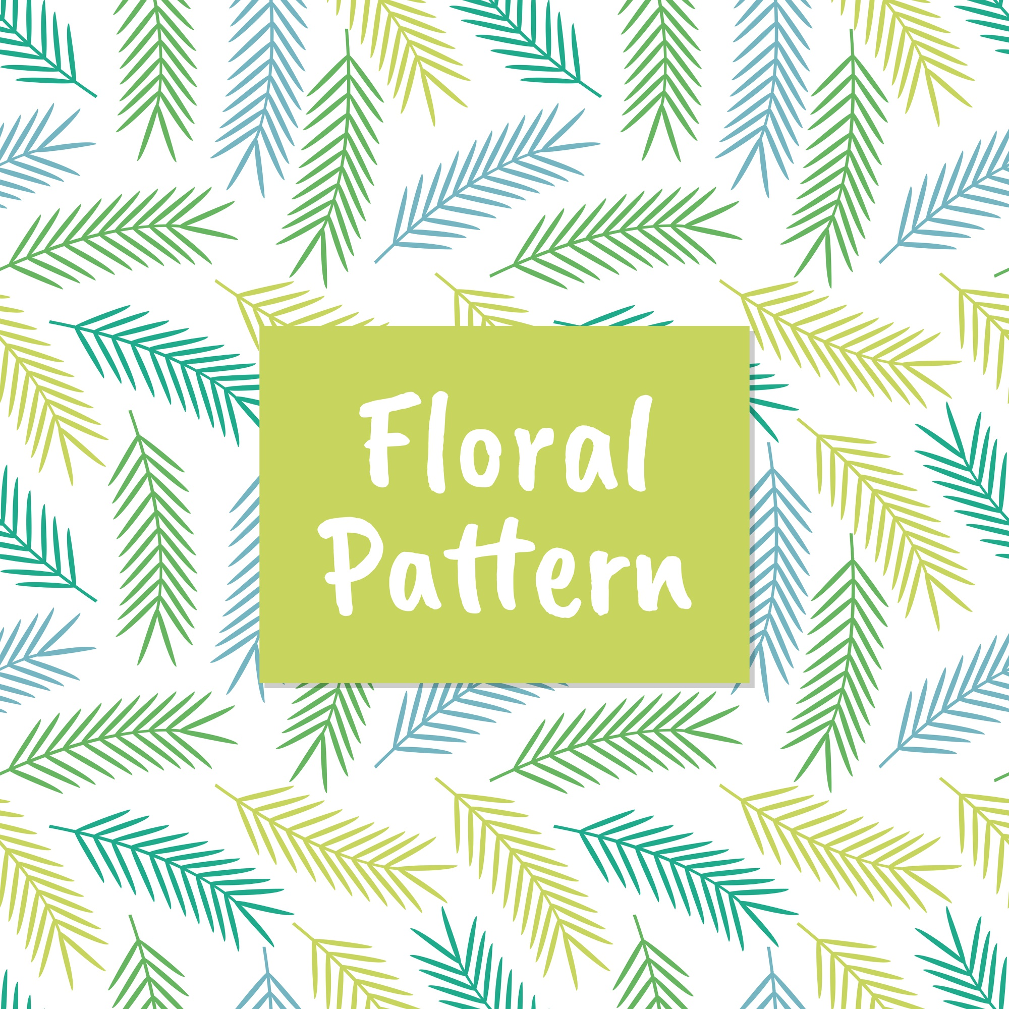 Colorful floral leaves seamless pattern background