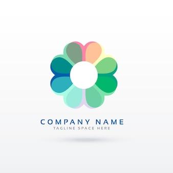 Concetto di design logo logo fiore morbido