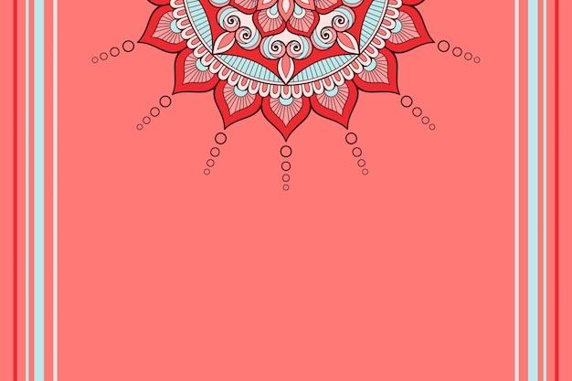 カラフルな花の曼荼羅の背景