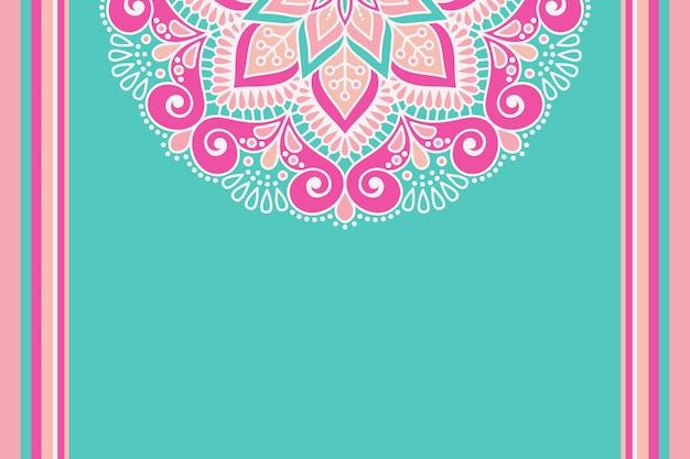 Colorful floral mandala background