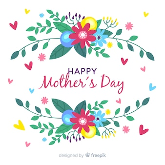 Colorful floral mother's day background