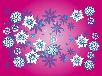 Colorful floral pattern decorations background