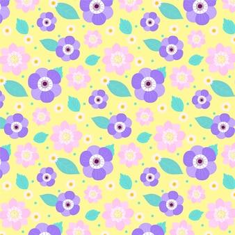 화려한 꽃 패턴 디자인