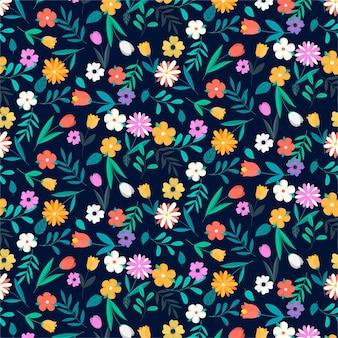 화려한 꽃 패턴