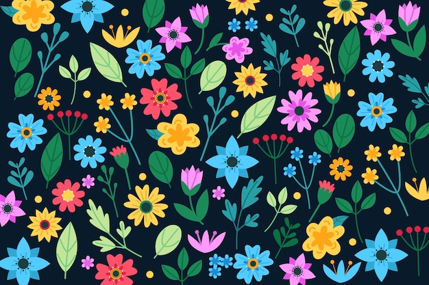 Colorful floral print background