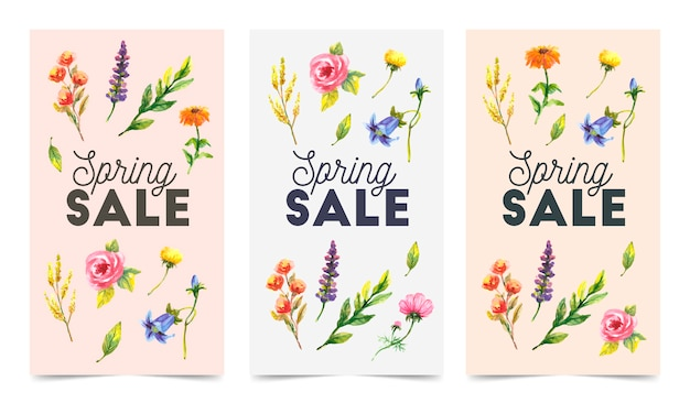 Colorful and floral sale badges