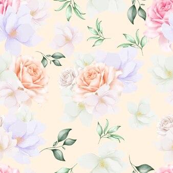 화려한 꽃 원활한 패턴