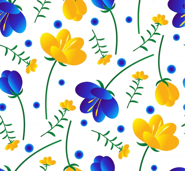 カラフルなシームレス花柄