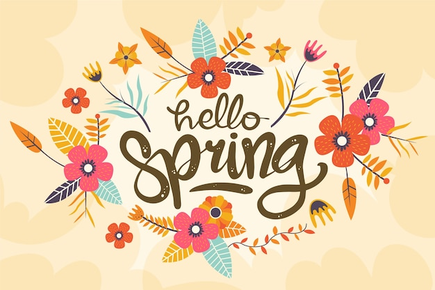 Colorful floral spring background