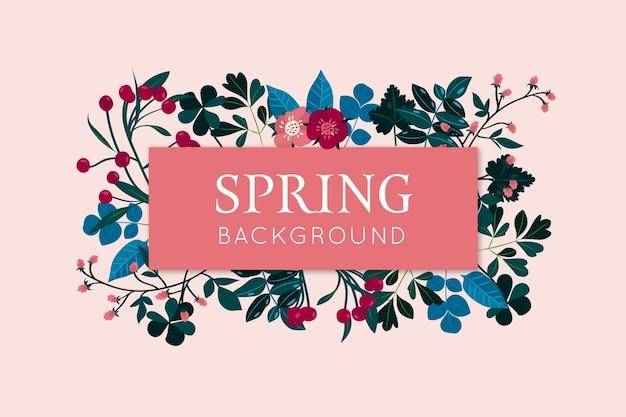 Красочный цветочный весенний фон