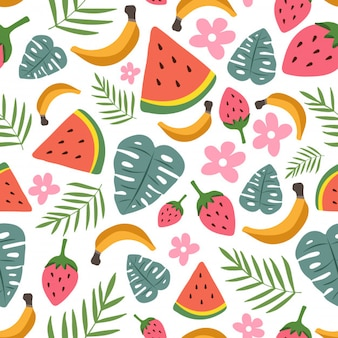 Colorful floral summer seamless pattern design