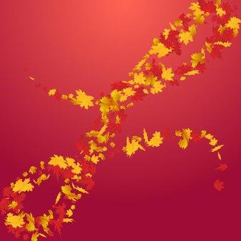 カラフルな花のベクトルの赤い背景。壁紙の葉のテクスチャ。オレンジ色のダウンの葉のイラスト。抽象的なデザイン。