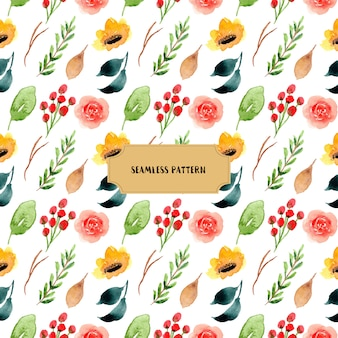Красочный цветочный акварель бесшовные patter