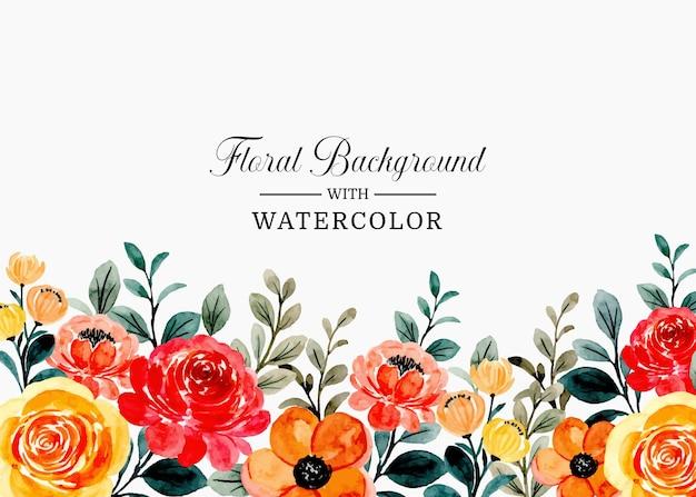 Красочная цветочная акварель