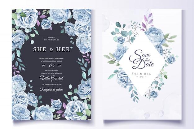 Colorful floral wedding invitation