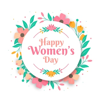 Colorful floral women's day greeting