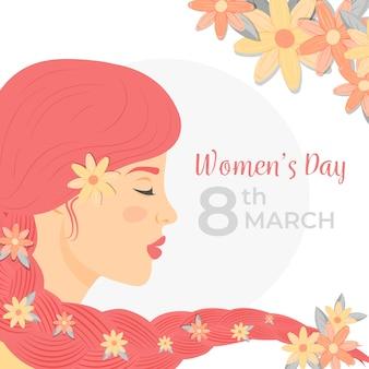 화려한 꽃 여성의 날