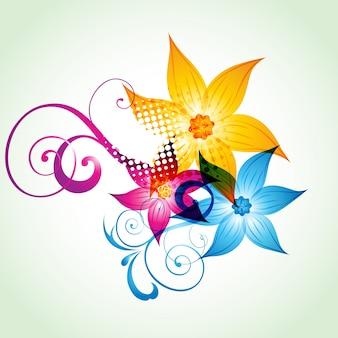 Красочная цветочная работа