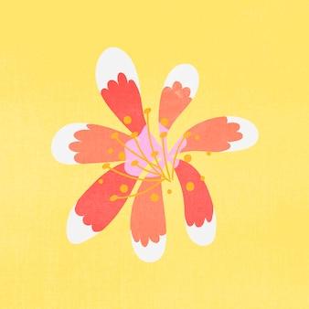 화려한 꽃, 평면 디자인 봄 클립 아트 벡터 일러스트 레이 션
