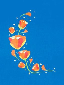 カラフルな花、フラットデザイン春クリップアートベクトルイラスト