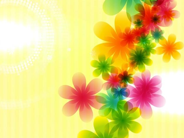 カラフルな花のスタイルの背景