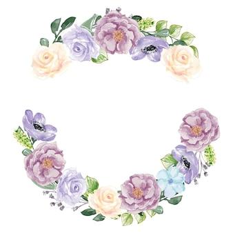 화려한 꽃 수채화 프리미엄