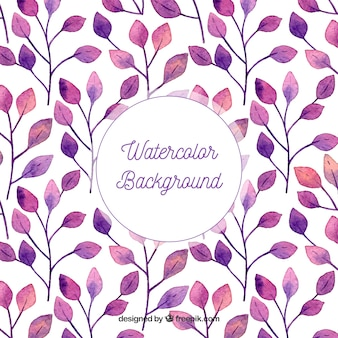 Colorful flowers background in watercolor style