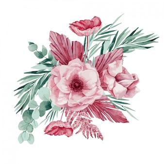 Красочные цветы. иллюстрации.