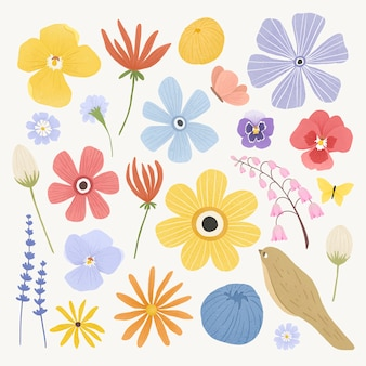 Colorful flowers pack