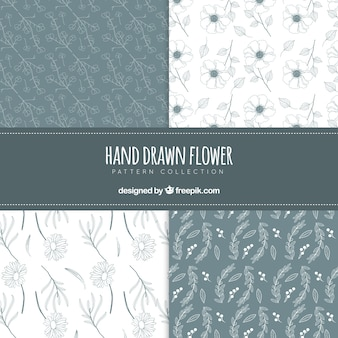 Colorful flowers patterns collection